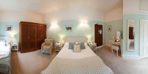 Bedroom 1 at Castle Hotel in Bishops Castle Shropshire