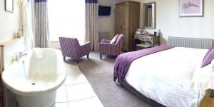 Bedroom 2 at Castle Hotel in Bishops Castle Shropshire
