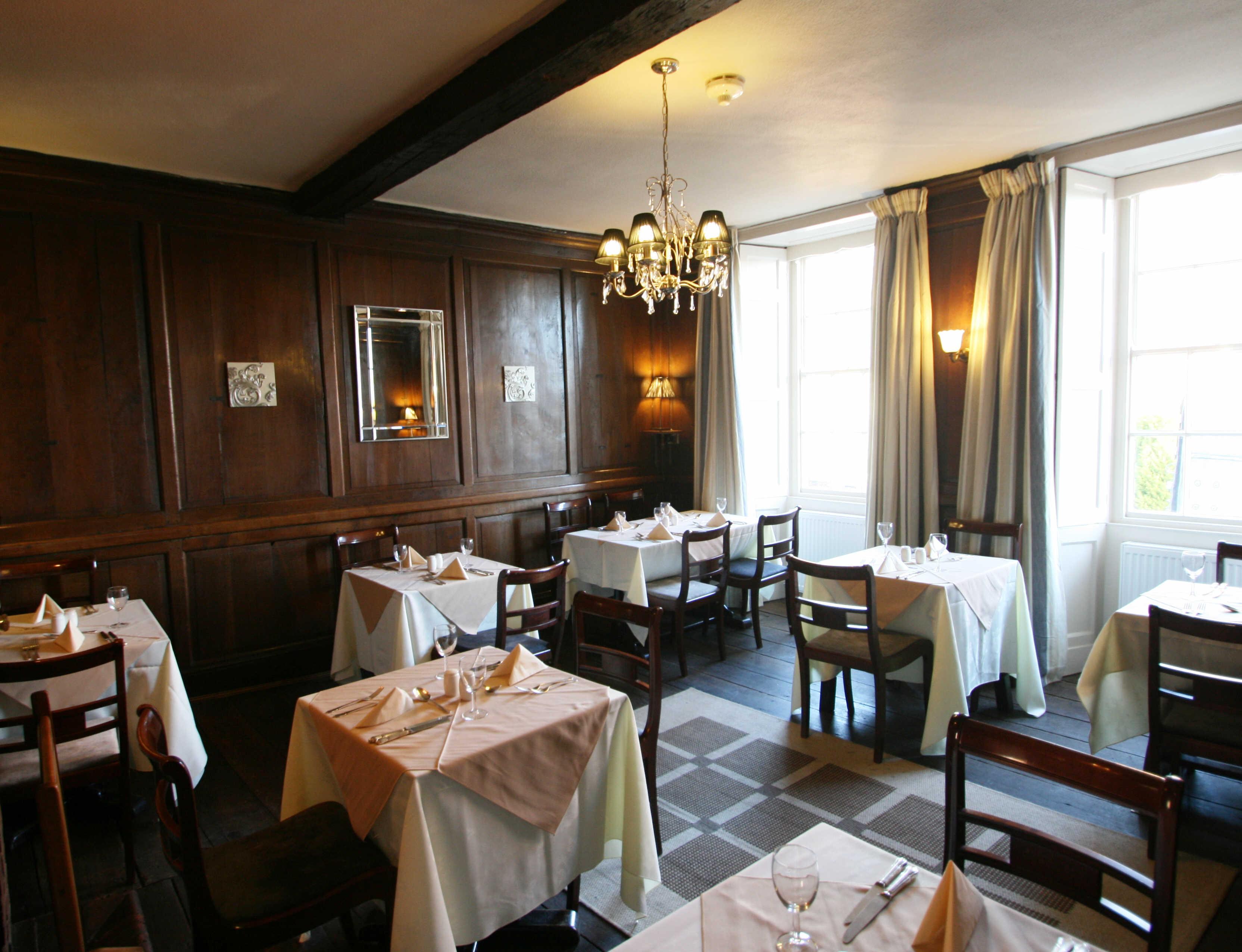 Restaurant in The Castle Hotel, Bishops Castle