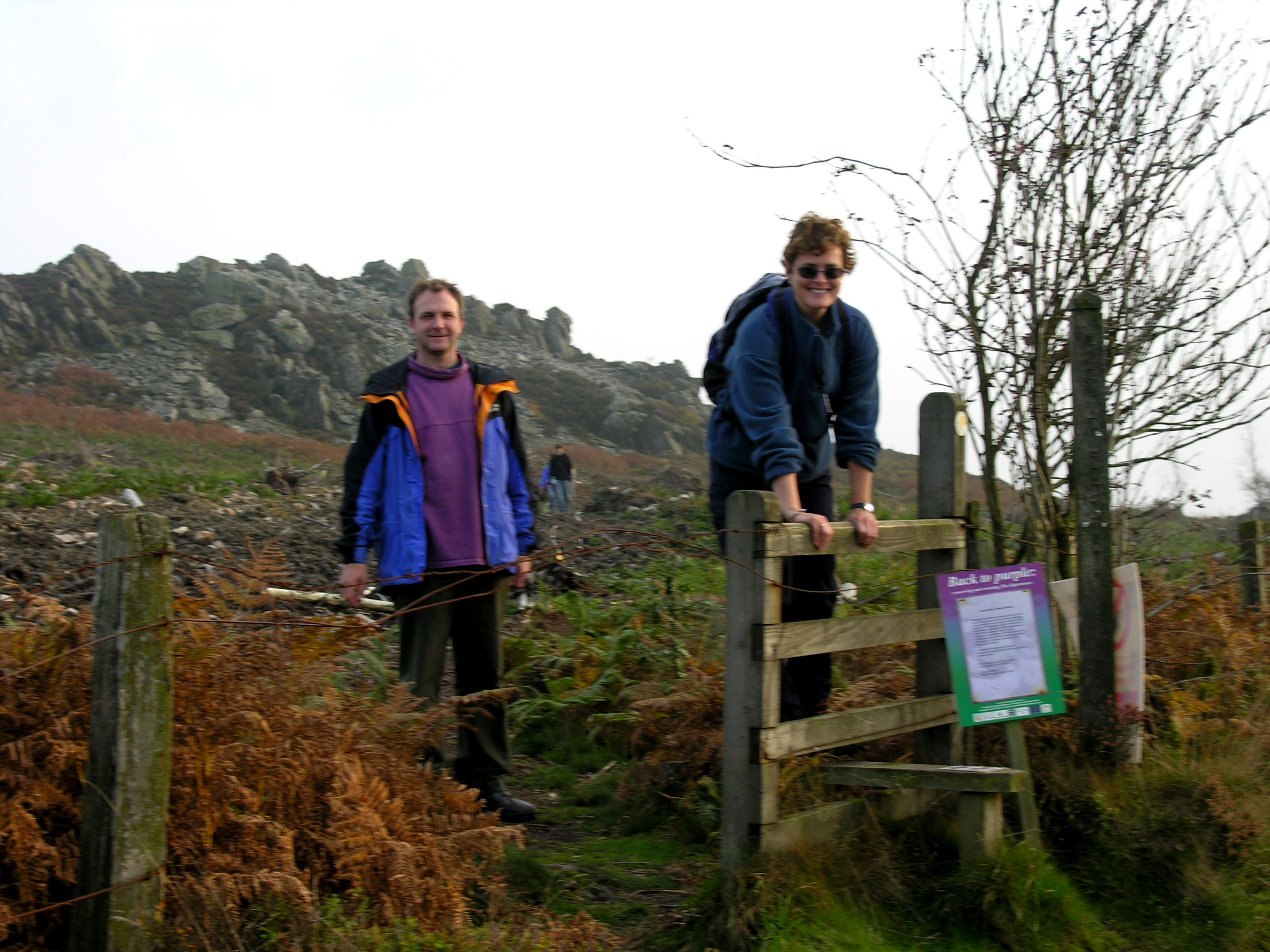 Walkers at Stiperstones