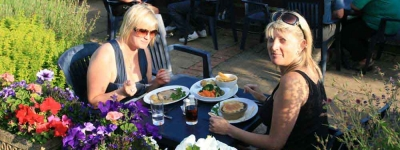 Enjoy outdoor Dining at The Castle Hotel in Bishops Castle
