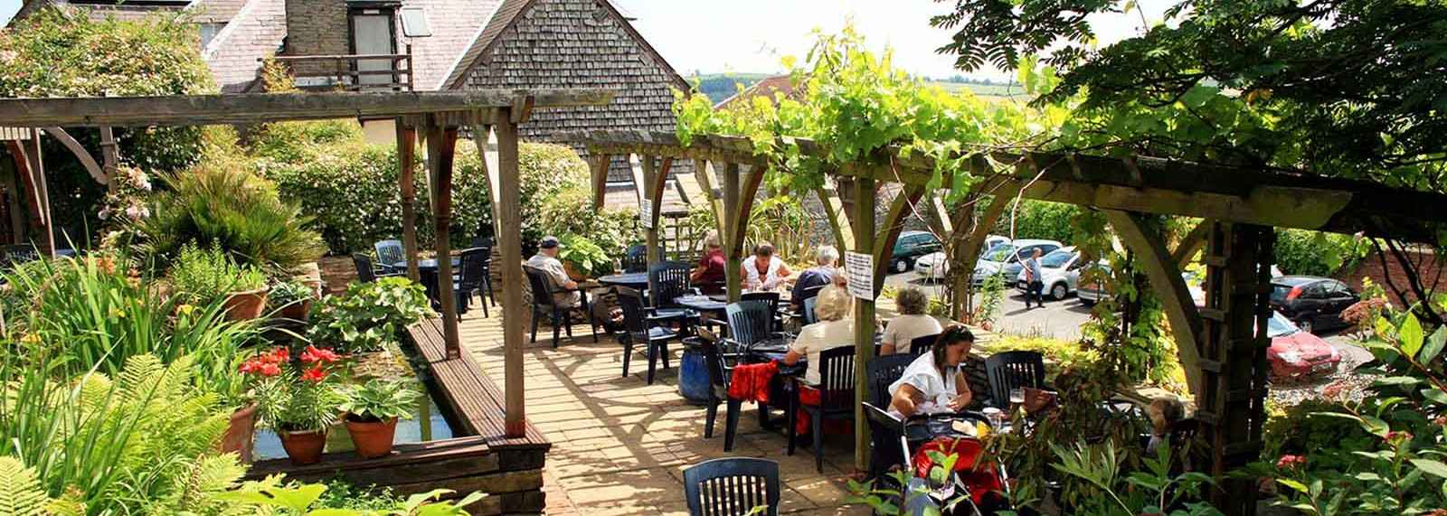 The Castle Hotel in Shropshire Garden Lunch