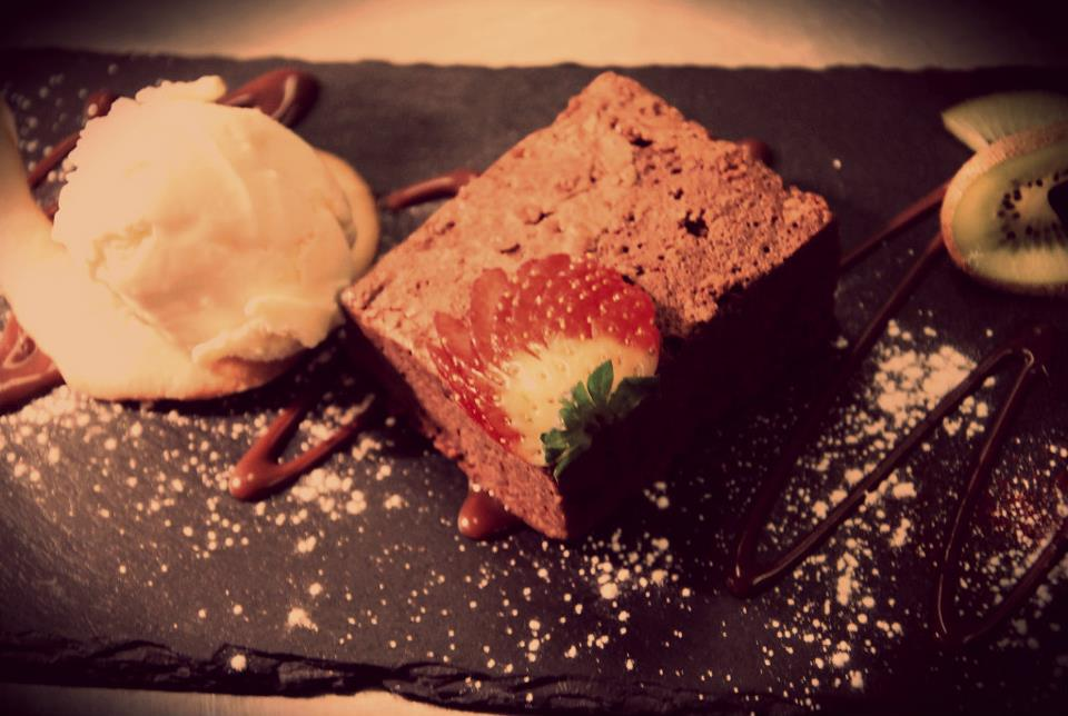 Our homemade chocolate brownie
