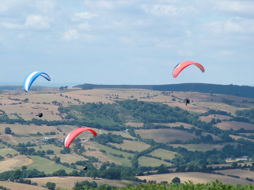 Paragliding on The Long Mynd, Shropshire