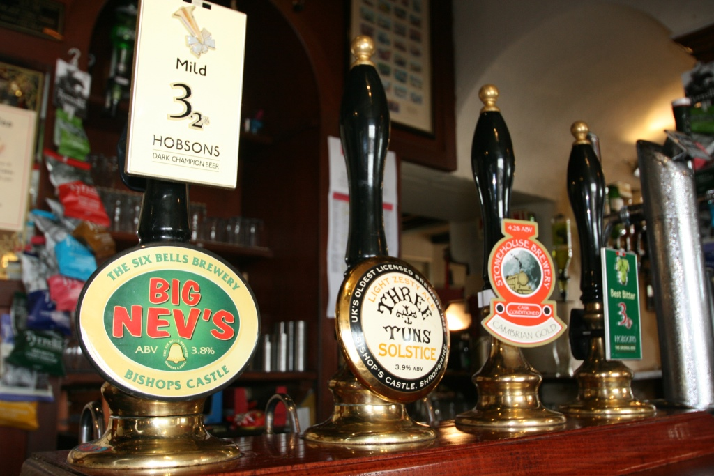 Real Ales at The Castle Hotel, Shropshire