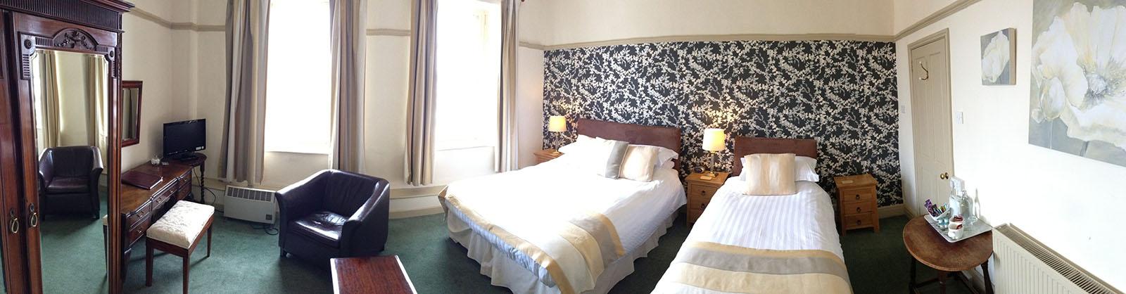 Bedroom 4 at Castle Hotel in Bishops Castle Shropshire