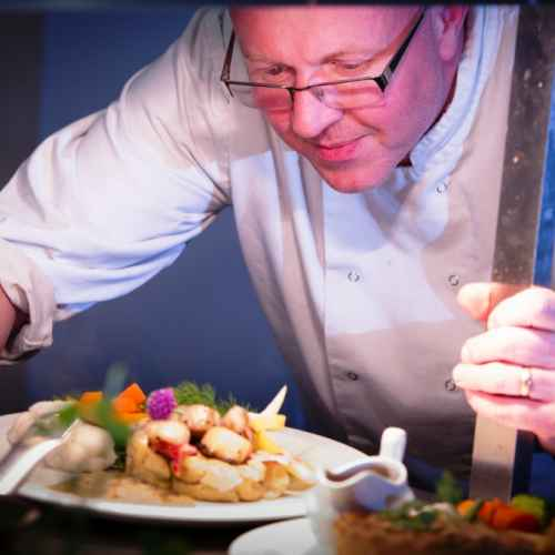 Plating up in The Castle Hotel