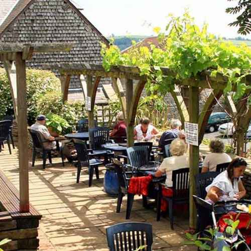 The Castle Hotel in Shropshire Garden Lunch